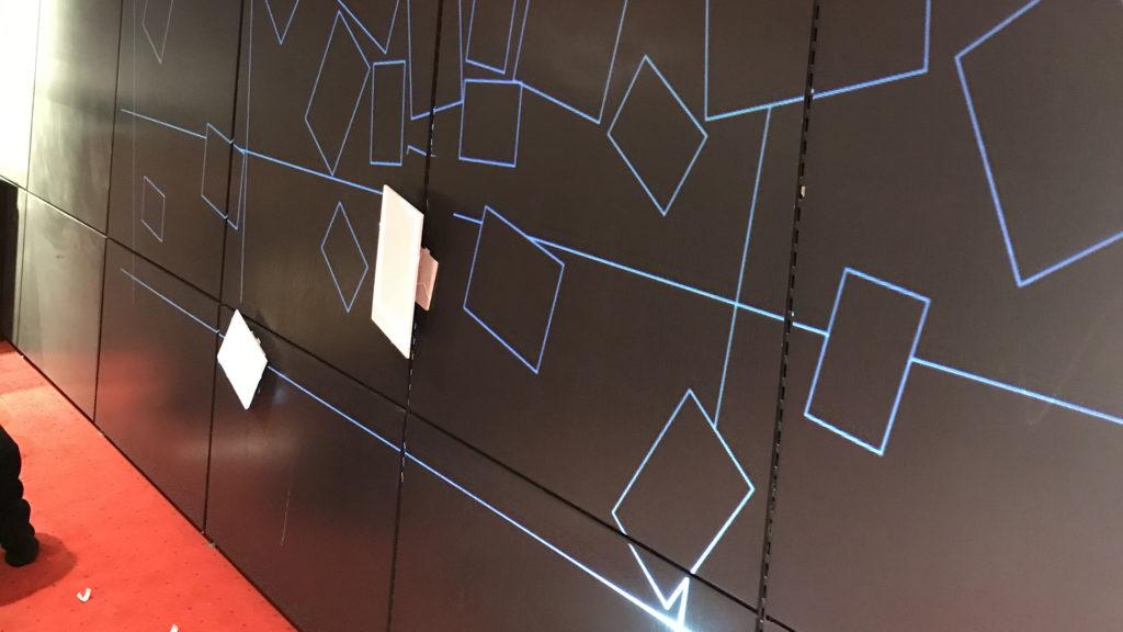 Lukas von Bülow Dussmann Mapping Installation